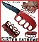 Duster Extreme Spring Opening Trench Knife w/ Knuckles - Red