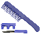 CIA Comb with Hidden Knife - Blue