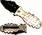 Hand Grenade Spring Assisted Opening Knife - Gold