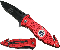 Red EMS EMT Rescue Knife Spring Assisted Pocket Knives