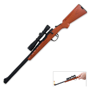 Bolt Action Rifle & Scope BBQ Grill Fireplace Cigar Lighter