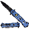 Blue Police Assisted Opening Rescue Folding Pocket Knife