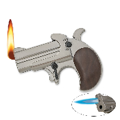 Derringer Pistol Lighter with Flame & Torch