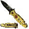 Rescue Pocket Knife - Gold Firefighter Spring Assisted Opening