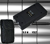 Black Self Defense Kit Stun Gun and Pepper Spray