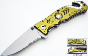 Green ARMY Tactical Rescue Spring Assisted Opening Pocket Knife