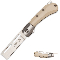 Bone Handle Straight Razor Folding Pocket Knife