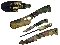 4 Pc Camo Hunting Knives Butcher Skinning Set w/ Knife Sharpener and Case