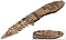 Desert Camo MUTILATOR Spring Assisted Opening Pocket Knife