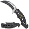 Karambit Black POW MIA Rescue Pocket Knife Assisted Opening