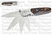 """Tactico & Elegante"" Spring Assisted Knife - Brown"