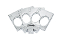 Lucky Punch Brass Knuckles - Gamblers Dice & Aces - Silver