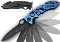 Blue POLICE Knife Spring Assisted Opening Rescue Pocket Knives