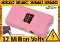 12,000,000 Volt Pink Stun Gun Built-In Charger Light & Case
