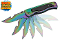 Guthook Blade Spring Assisted Pocket Knife - Rainbow