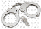 Double Locking Steel Police Handcuffs - Nickle Plated