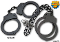 Black Police Cuff Set - Steel Handcuffs & Legcuffs