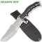Shadow Ops Silver Survival Combat Knife w/ Nylon Belt Sheath