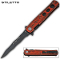 Stiletto Knife - Spring Assisted Kriss Blade Red Wood