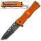 Orange EMS Tanto Blade Rescue Pocket Knife Assisted Open
