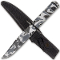 Camo Fixed Blade Survival Combat Hunting Knife with Belt Sheath