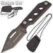 Shadow Ops Tanto Blade G10 Handle Military Neck Knife w/ Sheath