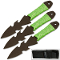 Undead 3pc Throwing Knife Set w/ Green Cord Handles
