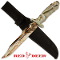 "Leaf Camo 13"" Survival Combat Knife with Belt Sheath"