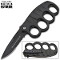 """Matrix"" Spring Assisted Trench Knife & Knuckles - Black Serrated"