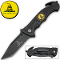 "Black ""Don't Tread on Me"" Rescue Pocket Knife"