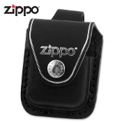 Zippo Black Leather Belt Carrying Pouch Lighter Case
