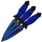 Perfect Point 2 Tone Black & Blue 3pc Throwing Knife Set