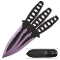 Purple Haze 3pc Throwing Knife Set with Sheath