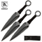 3 Pc BLACK Knives Naruto Kunai Spikes Throwing Knife Set