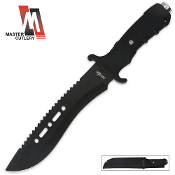 12in Black Survival Combat Knife with Sheath