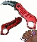 Karambit Blade Spring Assisted Opening Pocket Knife - Red