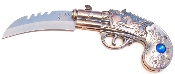 Push Button Automatic Opening Derringer Pistol Auto Knife