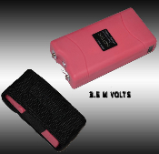 Pink Stun Gun - 3.5 Million Volt Rechargeable w/ Flashlight