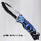 Blue Large Police Rescue Pocket Knife - Spring Opening Knives