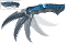 Blue & Black Widow's Claw Assisted Opening Spider Pocket Knife