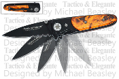 """Tactico & Elegante"" Spring Assisted Knife - Orange Camo"
