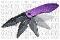 Purple MUTILATOR 2 Spring Assisted Opening Pocket Knife
