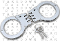 Steel Double Locking Hinged Handcuffs - Silver