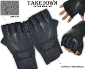 SAP Gloves - Fingerless Steel Shot Leather - Large