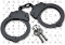 Double Locking Steel Police Handcuffs - Black