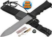 "12"" Jungle King Hunting Dagger Ultimate Survival Knife & Kit"
