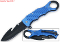 Blue Guthook Blade Spring Assisted Opening Pocket Knife