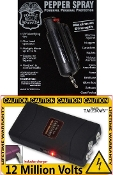 Black Self Defense Kit - Stun Gun and Pepper Spray