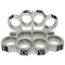"Brass Knuckles - Silver w/ Black ""Love"" Letters"