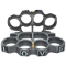 "Brass Knuckles - Grey w/ Black ""Love"" Letters"